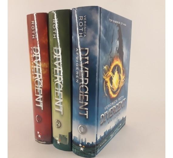 Divergent bind 1 - 2 -3 af Veronica Roth