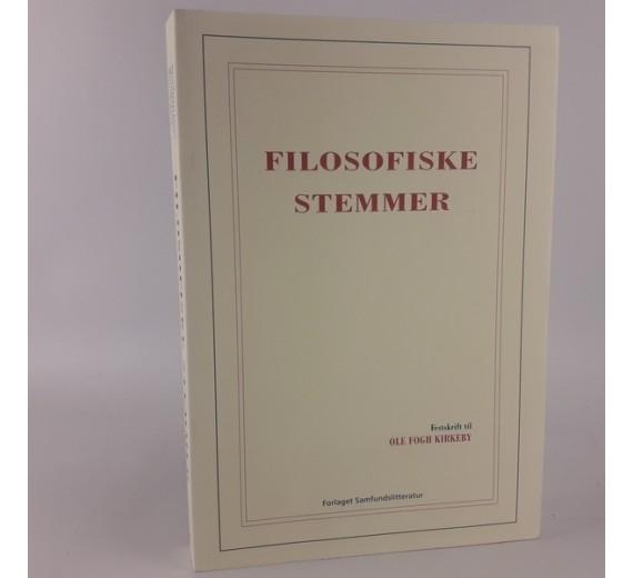 Filosofiske stemmer - festskrift til Ole Fogh Kirkeby,Steen Nepper Larsen (red.), Alexander Carnera (red.) og Martin Fuglsang (red.).